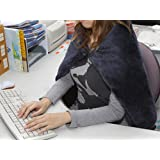 USB Heated Shawl and Lap Blanket - Blue Color - USB Heated Throw Perfect as an Office Desk Heater