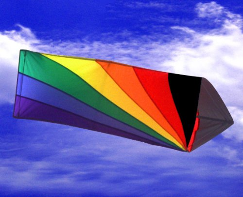 Black Rainbow Tribox Kite