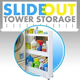 Plastic Slide Out Storage Tower Organizer Drawers Organizer Space Saving Kitchen