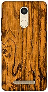 The Racoon Lean vintage wood yellow hard plastic printed back case / cover for Xiaomi Redmi Note 3