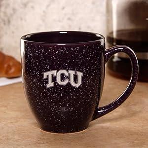 NCAA TCU Horned Frogs 16oz. Purple Speckled Bistro Mug