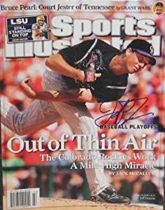 Buy Jeff Francis autographed Sports Illustrated Magazine (Colorado Rockies) by Autograph Warehouse