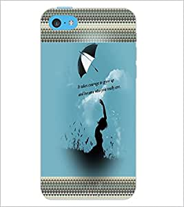 PrintDhaba Quote D-2471 Back Case Cover for APPLE IPHONE 5C (Multi-Coloured)