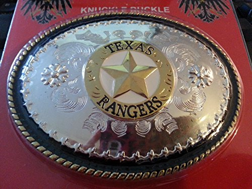 Montana Silversmiths Twisted Rope and Barbed Wire Belt Buckle w/ Texas Rangers Emblem