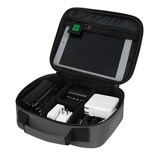 BAGSMART Electronics Travel Organizer Case Bag, Grey (Electronic Organizer Bag compare prices)