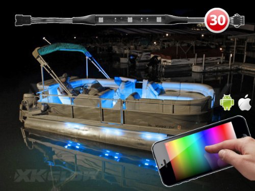 Premium 30 Strip 270 Led Marine Boat Yacht Interior Lighting Boat Ios Iphone Android App Wifi Control Led Accent Neon Lighting Kit 3 Million Color Music Sync Function 200 Presets Compatible W/ Iphone Ipad Ipod Android Phone Xk Carbon Series
