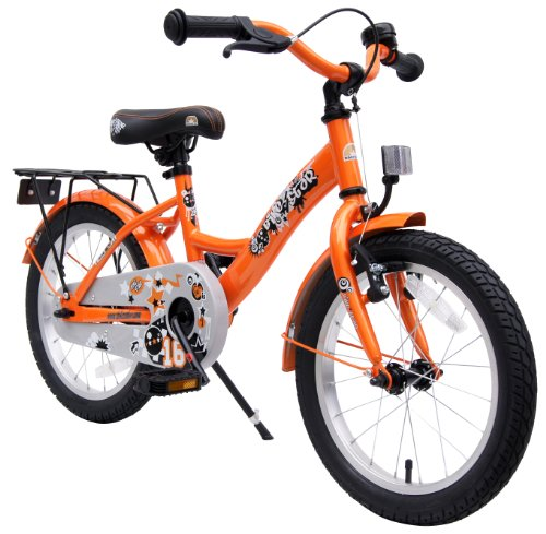 bike star 16 zoll kinder fahrrad farbe orange. Black Bedroom Furniture Sets. Home Design Ideas