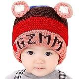 Happy Cherry - Gorra Gorro Protector Sombrero Caliente Infantil de Invierno para recien nacidos Beb�s ni�os ni�as - rojo rosa 6-36 meses