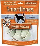 SmartBones Sweet Potato Dog Chew, Medium, 4-count