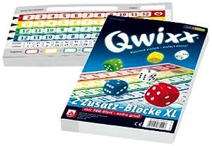 Nürnberger-Spielkarten 4021 - Qwixx Zusatzblöcke, XL Format, 2 Stück a 80 Blatt