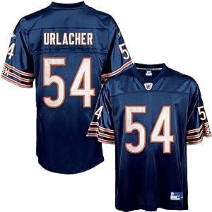 Brian Urlacher Jersey: Reebok Navy Replica #54 Chicago Bears Jersey - XX-Large