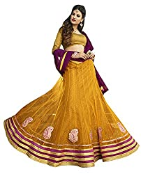 Melluha Net Lehenga Saree(ML-0254_Yellow)