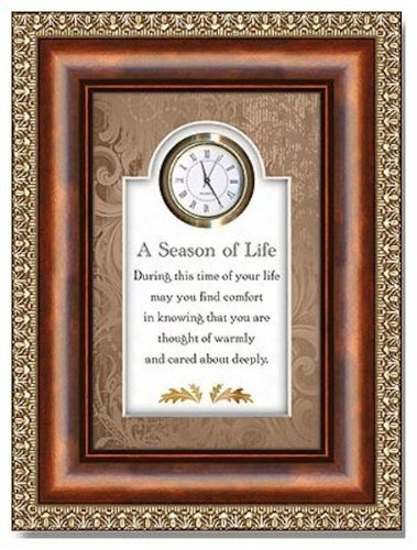 Christian Brands Hearfelt Collection A Season of Life 3D Tabletop Clock Framed under Glass
