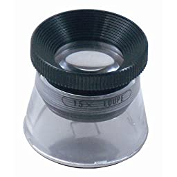 MIZAR-TEC high magnification loupe magnification 15x Lens diameter 21mm 0.1mm graduated made in Japan RCS-15