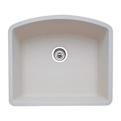 Blanco 511-710 Diamond 24-Inch-by-20-13/16-Inch Single Bowl Kitchen Sink, Biscuit Finish