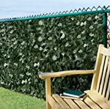 "ALEKO® 94"" X 39"" Faux Ivy Privacy Fence Screen Artificial Hedge Fencing or Wall Outdoor Decor"