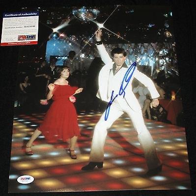 john-travolta-signed-11-x-14-saturday-night-fever-pulp-fiction-gree