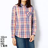 パープル&イエローレディス(Purple & Yellow) 長袖チェックシャツ