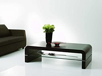 Modern 690 Coffee Table with Clear Glass Shelf