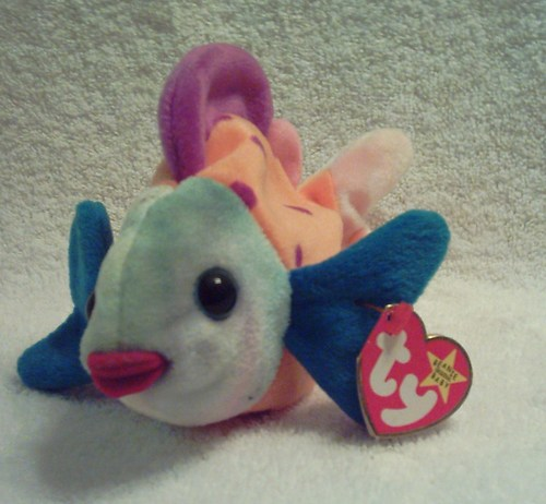 Ty beanie babies lips the fish toys games for Fish beanie baby
