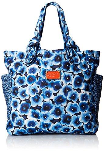 Marc by Marc Jacobs Pretty Nylon Aki Floral Medium Tate Carry On, Skipper Blue/Multi, One Size