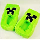 Minecraft Creeper Plush Slippers Warm Winter Household Slippers Cartoon Thick Bottom Shoes