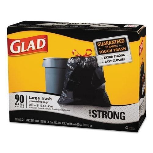 tilex-70313-drawstring-large-trash-bags-30-x-33-30gal-11mil-black-90-carton-by-tilex