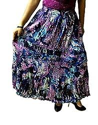 Cotton Breeze Womens Cotton Long Skirt (FP342, Black)