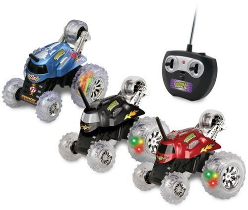 Today Blue Hat Remote Control Monster Spinning Car