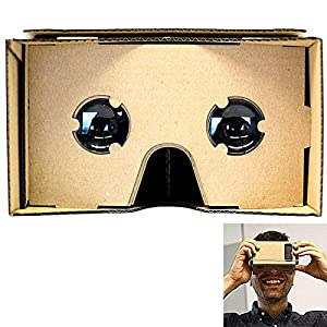 SeresRoad® Unassembled DIY Google Cardboard Cellphone Valencia Quality 3d Vr Virtual Reality 3D Glasses for iPhone Samsung HTC Moto X Nexus 5 Cellphones from SeresRoad