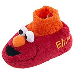 Sesame Street Elmo Face Slipper (Infant/Toddler), Red, Medium (3/4 M US Toddler)