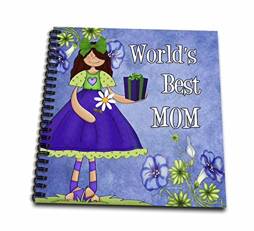 Doreen Erhardt Mothers Day Collection - Worlds Best Mom in Purple for Mothers Day - Memory Book 12 x 12 inch (db_40742_2)