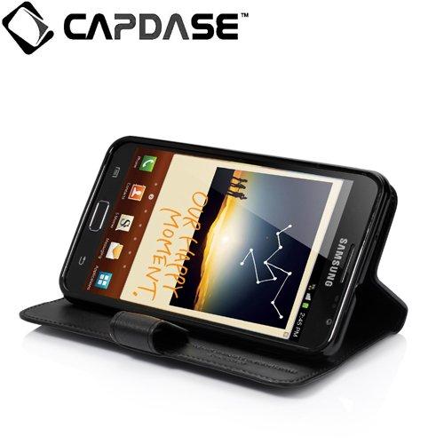 【スタンド機能つき】CAPDASE ドコモ GALAXY Note SC-05D GT-N7000 Leather Case FlipJacket BF : よこ開き レザーケース ブラック WCSGN7000-B001