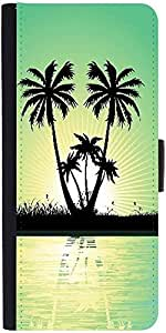 Snoogg Abstract Tropical Backgrounddesigner Protective Flip Case Cover For Sa...