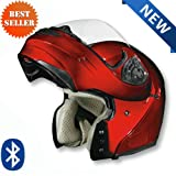 Vega Summit 3.0 Bluetooth Ready Modular Helmet Solids with Inner Sun Visor