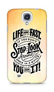 AMEZ life moves pretty fast Back Cover For Samsung Galaxy S4