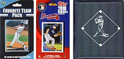 MLB Atlanta Braves Licensed 2010 Topps® Team Set and Favorite Player Trading Cards Plus Storage Album
