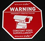 "9"" Security Camera Spy Sign Sale CCTV Weatherproof!"