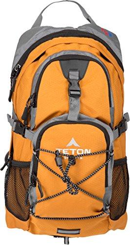 TETON Sports Oasis 1100 2 Liter Hydration Backpack Perfect for Biking, Hiking, Climbing, and Hunting, Orange