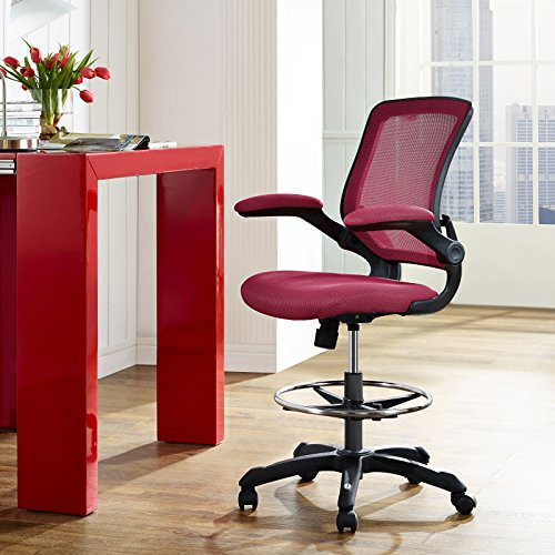 Lexmod Veer Drafting Stool Red Arts Entertainment Hobbies