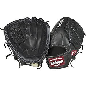Nokona Bloodline Baseball Glove, Right Hand, 12-Inch, Black