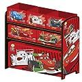 Disney Cars Multi Toy Organizer f�r Spielzeug aus Holz mit Textilschubladen Aufbewahrungsbox mit Schubladen B-WARE