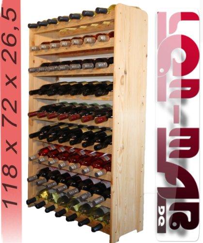 Len Mar.de Weinregal Weinregal Holz Flaschenregal für 63 Flaschen Massiv-63