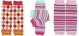 NEWBORN 3 pack of Baby boy or girl leg warmers (Girl Set 1)