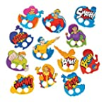 Super Hero Cardboard Finger Puppets -...
