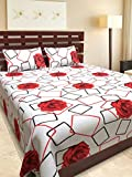 Ab Home Decor 100% Cotton Double Bedsheets with 2 Pillow Covers