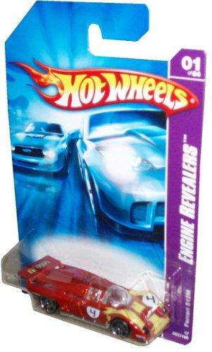 Mattel Hot Wheels 2006 Engine Revealers Series 1:64 Scale Die Cast Metal Car # 1 of 4 - Red Sport Race Car Ferrari 512M - 1