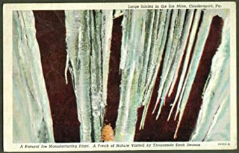 ice mine coudersport pa postcard 1948 at amazons