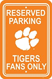 NCAA Clemson Tigers 12-by-18 inch Plastic Parking Sign