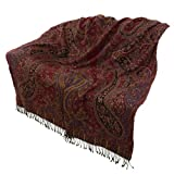 High Quality Wool, Throw, Antique Inspired, 2-in-1 Unique, 223 x 142 cmby ShalinIndia